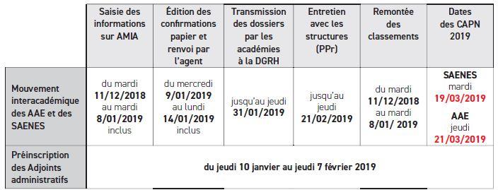 Calendrier Mouvement Intra Academique 2020.Capa Capn Snasub Fsu Section Academique Caen